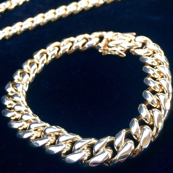 Other - CUBAN LINK 18K GOLD NEW BRACELET MADE IN ITALY